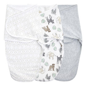 Aden + Anais Toile 3 pack  Wrap Swaddle 4-6 mois Neutral