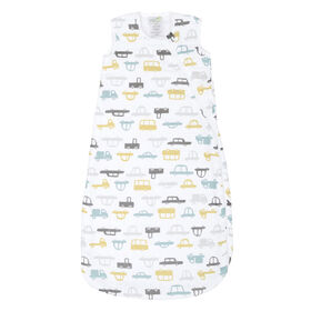 Sleepbag-Muslin-Allover Cars (0,7 Tog) 0-6 Months