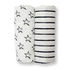 Lulujo 2 pack Bamboo Swaddling Blanket - Stars & Stripes - R Exclusive