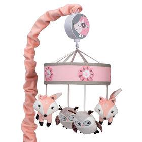 Mobile musical pour lit de bébé Arbre de l'amitié Petit Bois Lambs & Ivy.