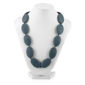 Nuby Teething Necklace with Flat Beads - Grey