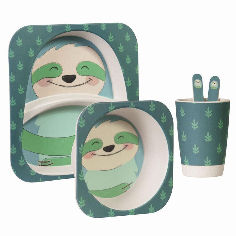 Ensemble-Cadeau De Table En Bambou De Safety 1St - Paresseux