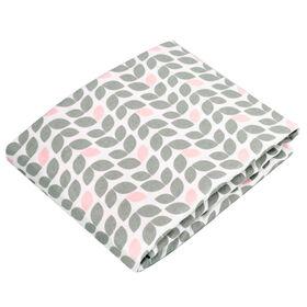 Kushies drap contour en flanelle pour lit de bébé - pétale gris.
