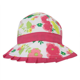 Baby B - Bucket Hat - Floral, Pink, 0-12M