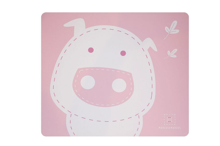Marcus & Marcus Placemat - Pokey the Piglet - Pink.