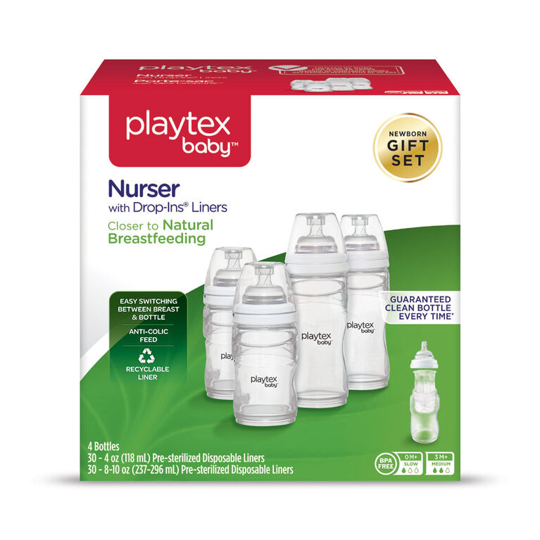 Playtex Nurser Newborn Bottle Feeding Gift Set