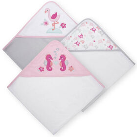 Koala Baby 3-Pack Hooded Towels, Girl