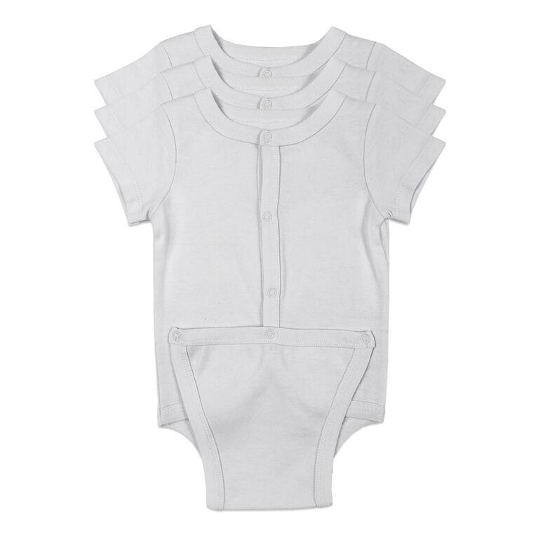 Koala Baby 3-Pack Diaper shirt - White, Preemie