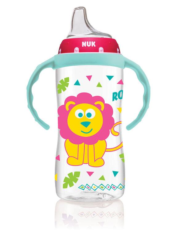 NUK Large Learner Cup 10oz - Pink/Teal