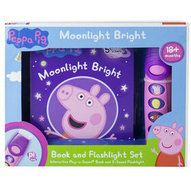 Peppa Pig – Moonlight Bright Book and Flashlight Set (Ensemble Clair de lune comprenant un livre et une lampe de poche) - Édition anglaise