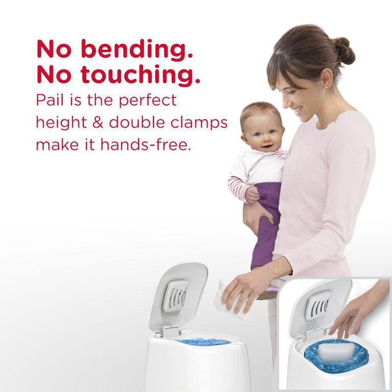 Poubelle à couches Diaper Genie Elite de Playtex Baby - Blanc Designer