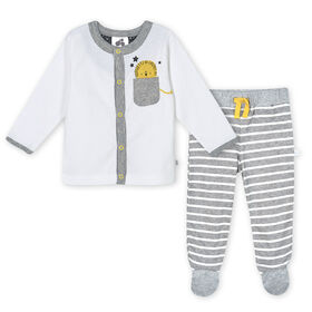 Just Born Baby Boys 3-Piece Organic Take Me Home Set - Lil Lion Newborn