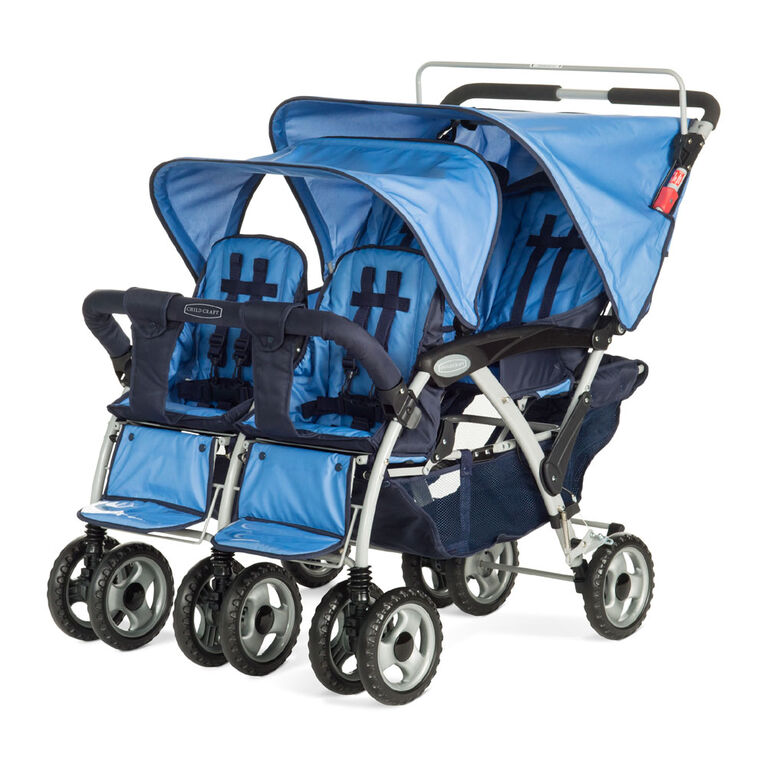 Child Craft Sport Multi-Child Quad Stroller, 4-Passenger - Blue