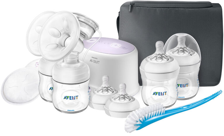 Philips Avent Double Electric Breast Pump with Breastfeeding Accessories F333423