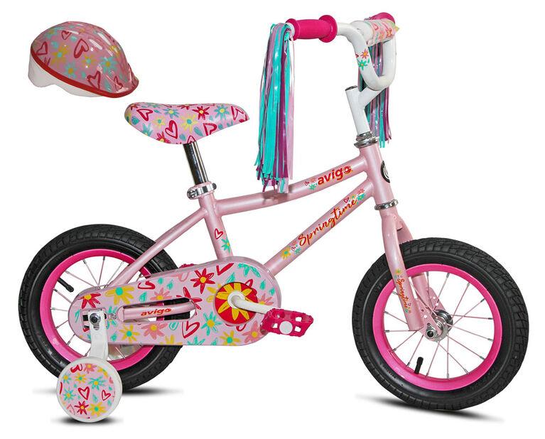 Avigo Springtime with helmet - 12 inch Bike