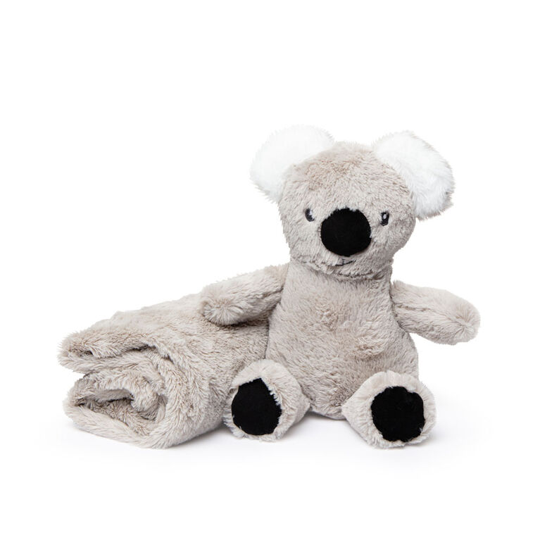 Jesse & Lulu Grey Koala Plush Toy & Blanket