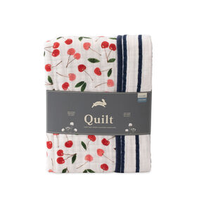 Red Rover - Cotton Muslin Quilt - Cherries - R Exclusive