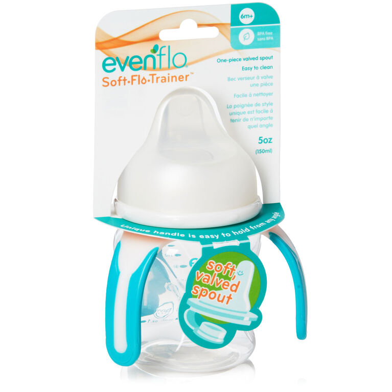 Evenflo Soft-flo 5oz Trainer Cup 1-Pack - Clear