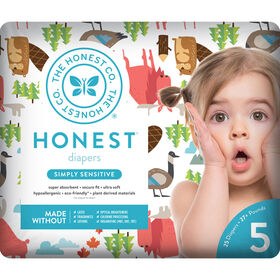 Honest Diapers Size 5 Ca National Print.