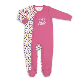 Koala Baby Cotton Sleeper Pink w/ Multi Dot - Girl Power, 0-3 Months