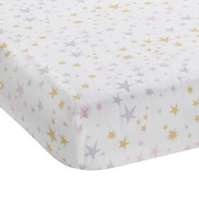 Bedtime Originals - Rainbow Unicorn Fitted Crib Sheet - Multicolor