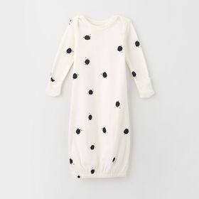0-3m chemise de nuit en coton biologique - cosmo/blanc