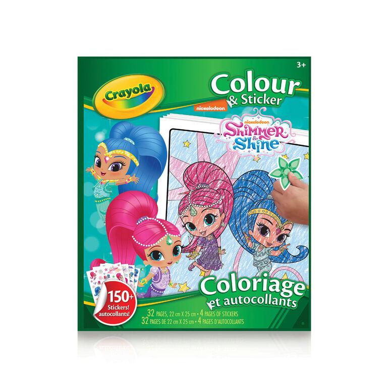 Livre à colorier et autocollants Shimmer & Shine
