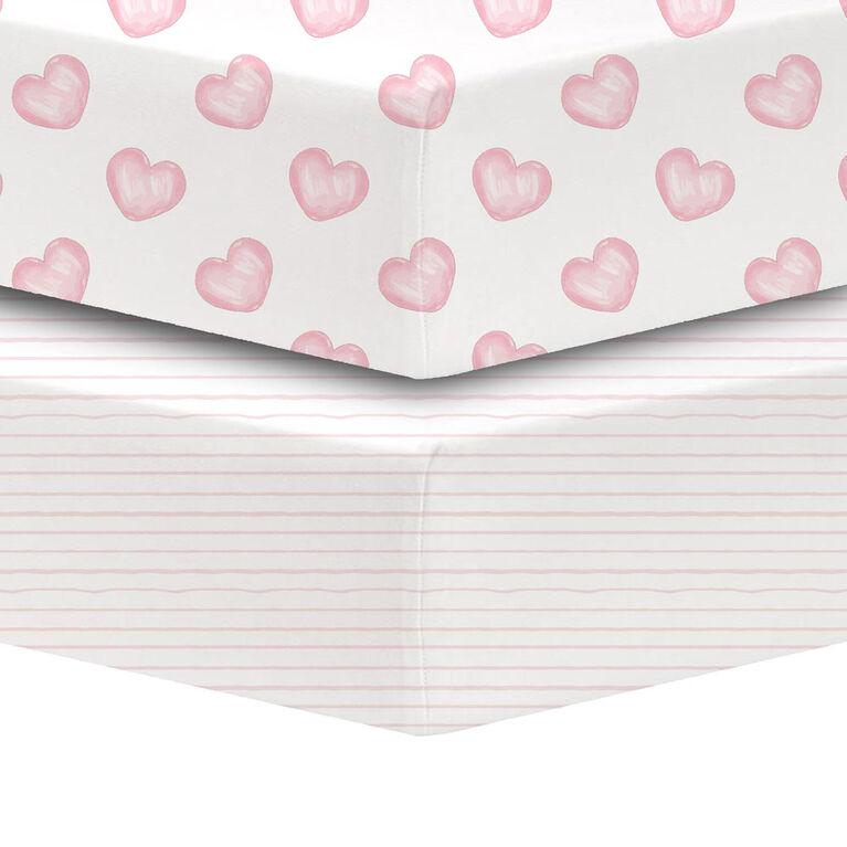 Koala Baby - Percale 2 Pk New Pink Hearts