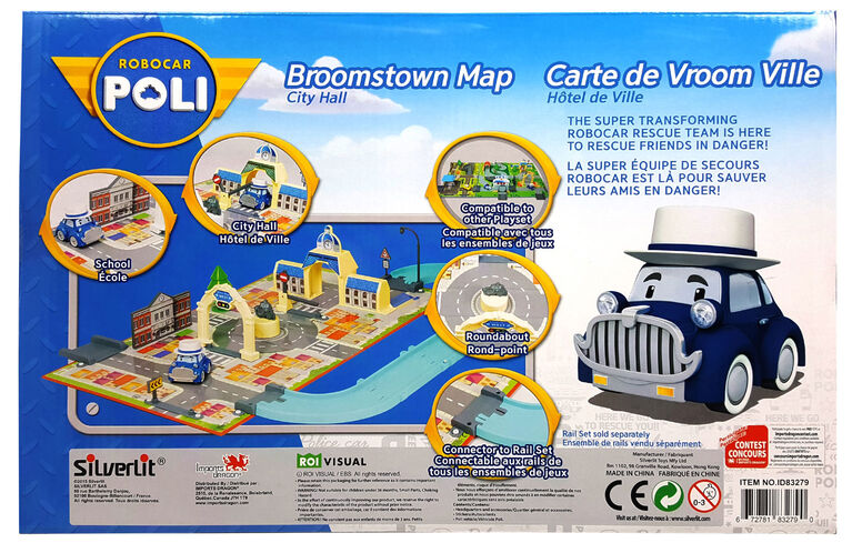 Robocar Poli - Carte de Vroom Ville : Hôtel de Ville