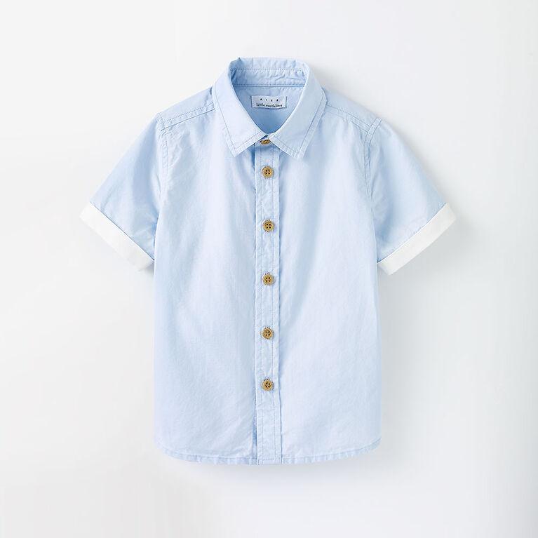 woven cotton button-up, 18-24m - light blue