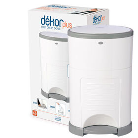 Diaper Dekor Plus Diaper Pail – White