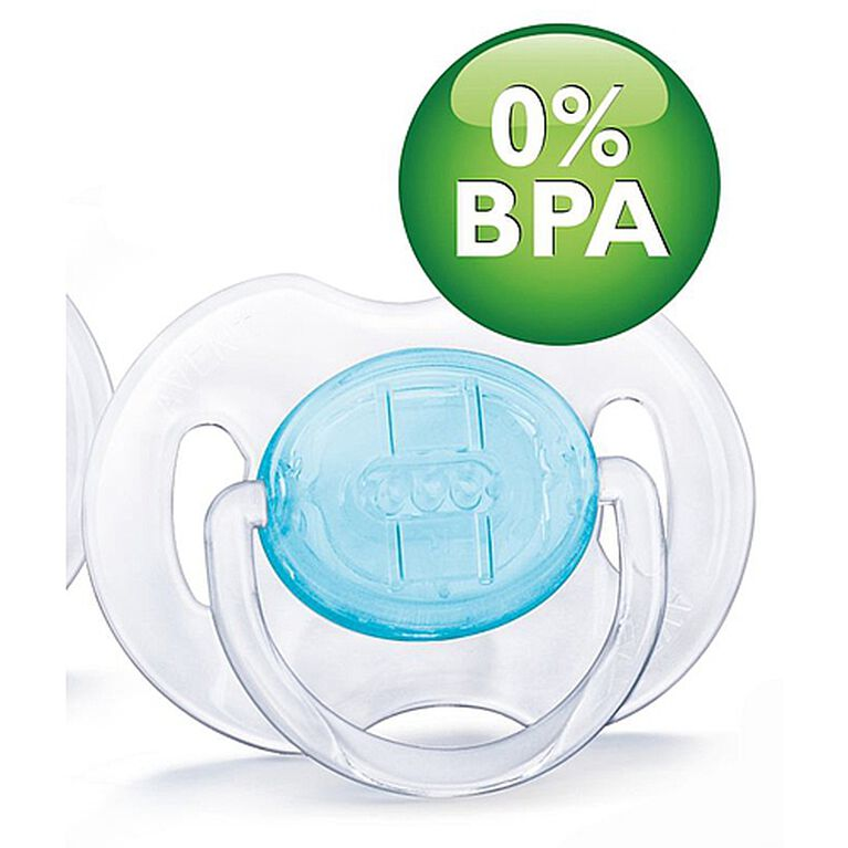 Philips AVENT - BPA Free Translucent Pacifiers, 0-6 Months, 2-Pack, Blue
