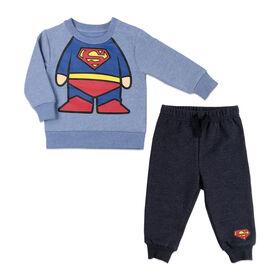 Warner's Superman Ensemble de jogging 2 pièces  - Bleu, 6 Mois