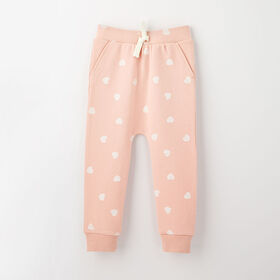 drop-crotch cozy sweats, 3-6m - light pink