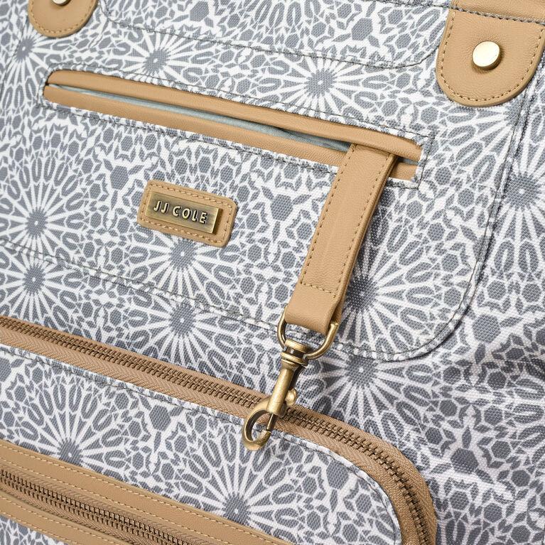 JJ Cole Caprice Diaper Bag - Grey Moroccan