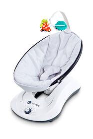 Siège pelucheux pour bébé rockaRoo de 4moms - gris classique.