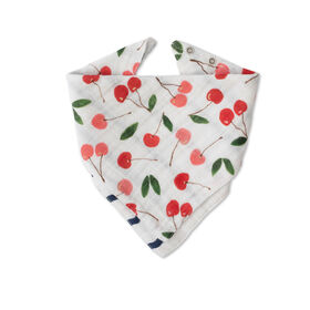 Red Rover - Cotton Muslin Bandana Bib - Cherries - R Exclusive