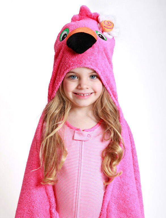 Zoocchini Toddler Towel - Franny the Flamingo