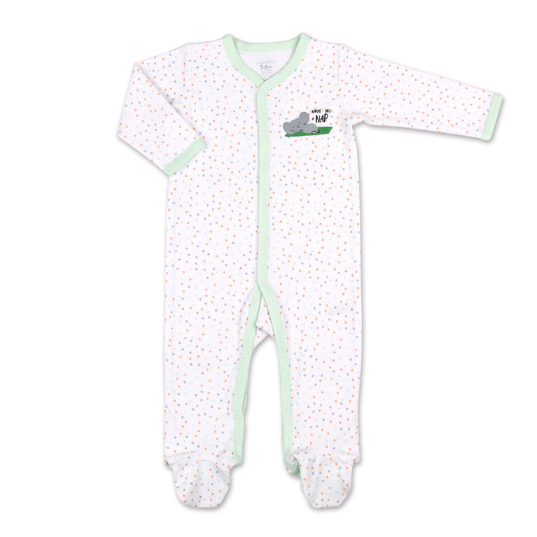 Koala Baby Green Koala All Over Print Dots Sleeper, 3-6 Months