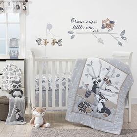 Originaux de l'heure du lit – Ensemble de linge pour lit de bébé 3 pièces Petits chenapans – Gris.