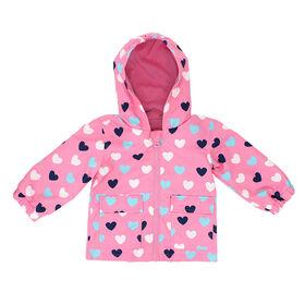 Northpeak Baby Girls Fashion Jacket- Candy Pink Hearts - 24 Months