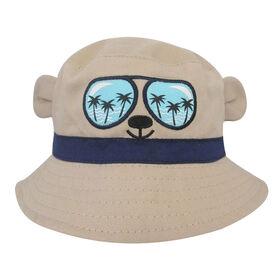 Baby B - Bucket Hat - Bear, Brown, 0-12M