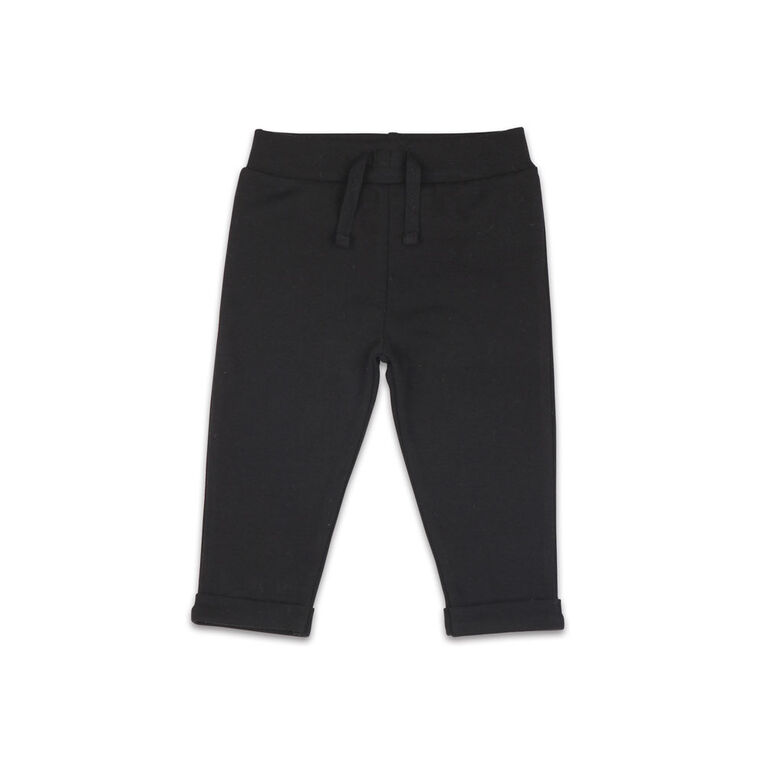 The Peanutshell Baby Girl Layette Mix & Match Black Lounge Pant - 6-9 Months