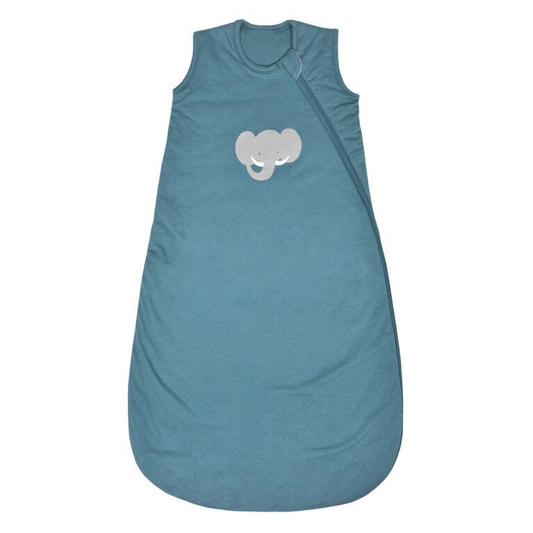 Sac de nuit en tricot matelassé - Éléphant bleu, 0-6 Mois Perlimpinpin.