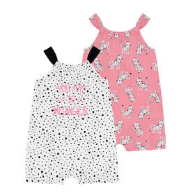 PL Baby Feline Fabulous Dual Pack Rompers Off White 12M