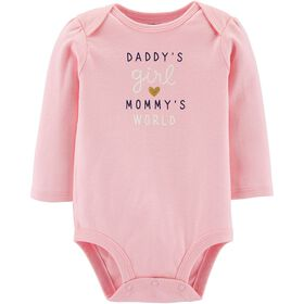 Cache-couche à collectionner Daddy's Girl Mommy's World Carter's - rose, 3 mois.