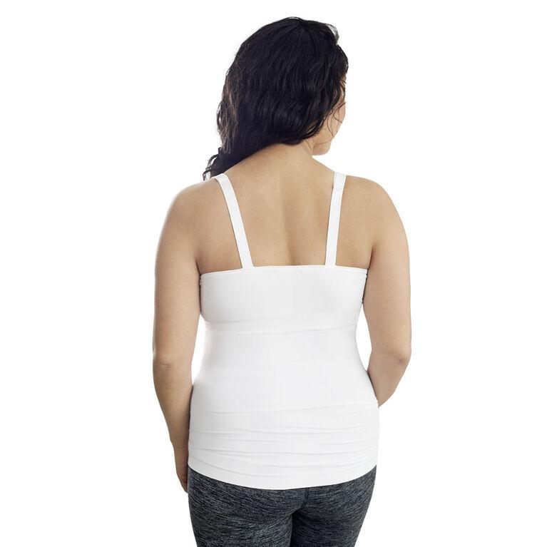 Camisole confortable de maternité et d'allaitement Medela, moyen blanc