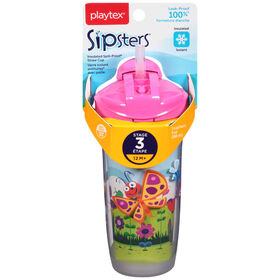 Playtex - Insulator Sport Straw Cup 9oz - Pink, Styles May Vary