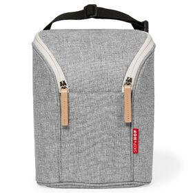 Grab &Go Double Bottle Bag- Grey Melange