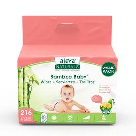 Aleva Naturals Bamboo Wipes Sensitive - 216 Count